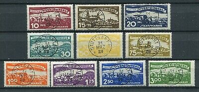 Germany Wurttemberg 1920 Views Set Scott O166-O175 Superb Used