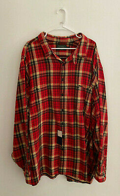 Mens Polo Country Ralph Lauren  Plaid Button Front Flannel Shirt sz 5XB New NWT