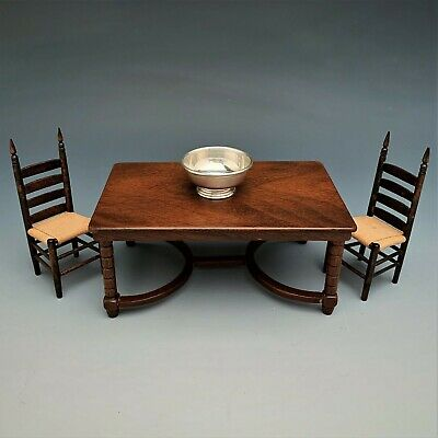 William B. Meyers Miniature Sterling Silver Revere Bowl, Table & Chair Set