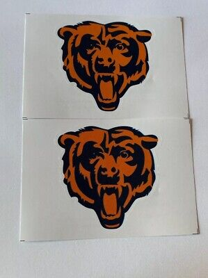 NFL Chicago Bears Lot of 2 Football Indoor Decal Stickers