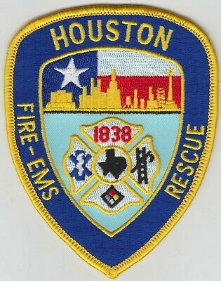 """4.5/"""" x 4.5/"""" size Texas Houston  Station-46  /""""Bring Em Out Alive/"""" fire patch"""