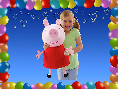 Peppa Pig Giant Talking Peppa Soft Toy Cuddle 20 Inch Soft Toy Pink or Blue NEW