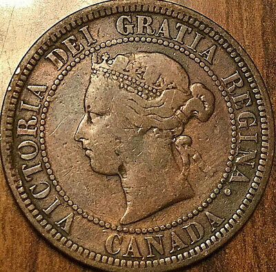 1881H CANADA LARGE CENT LARGE 1 CENT PENNY COIN - Triple N