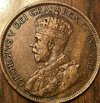 1916 CANADA LARGE CENT LARGE 1 CENT PENNY COIN - Nicer example!