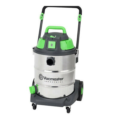 Vacmaster Wet / Dry Industrial Vacuum 50 litre 1600w Stainless Drum Sync Funct