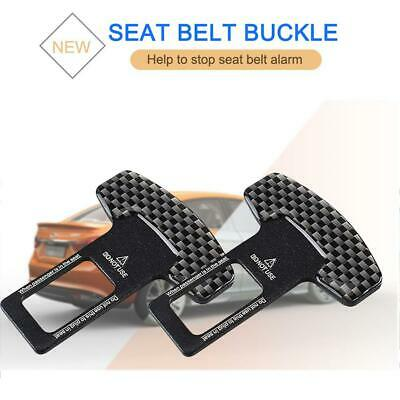 2x Universal Safety Seat Belt Clip Buckle Locking Alarm Stopper Strap Clamp Cars