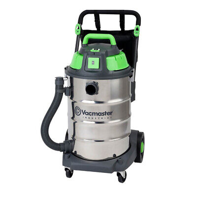 Vacmaster Wet / Dry Industrial Vacuum 60 litre 1600w Stainless Drum Sync Funct