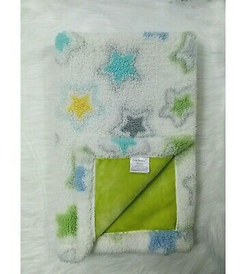 Costco Little Miracles Star Sherpa Baby Blanket Thick Large Multicolored B86