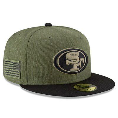 Official 2018 San Francisco 49ers New Era NFL Salute Service 59FIFTY Fitted Hat