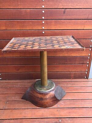 Old Trench Art Side Table Made From Propellor Of A 1935 DH GIPSY AIRCRAFT