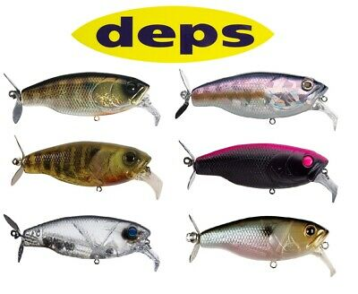 DEPS SLITHER K FROG TOPWATER LURE RABBIT FUR TAIL BASS JAPAN TACKLE SELECT COLOR
