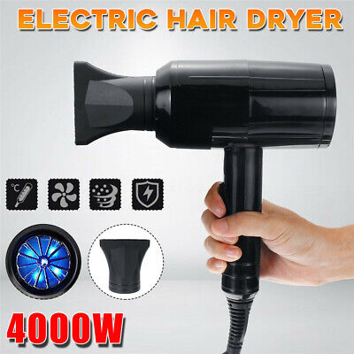 4000W 220V Electric Hair Dryer Hot/cold Blue Light Temperature Blow Blower Salon