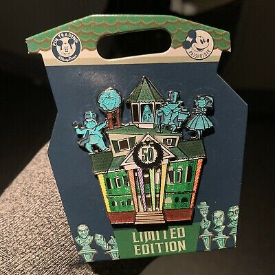 New Disney Parks Pin (Haunted Mansion Gingerbread 50th Ann. AP Exclusive) LE3000