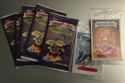 (5) 2019 GARBAGE PAIL KIDS REVENGE OF OH, THE HORROR-IBLE Packs +2 Victims PACKS