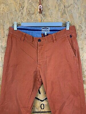 JOULES, Mens W32 L32, Orange, Tapered Fit, Casual Trousers/Chino's,*GC*