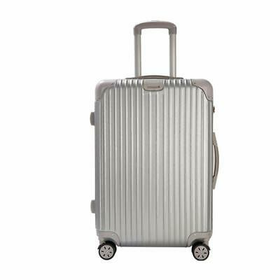 20'' 4 Wheel Suitcase Travel Cabin Bag Carry On Hard Case Hand Luggage Silver