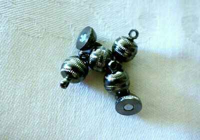 5 Gunmetal Plated Magnetic Clasps 13mm x 8mm #626 Jewellery Beading Findings