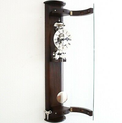 HERMLE DESIGN Skeleton TOP Wall Clock TRANSLUCENT German CURVED Glass Bell Chime