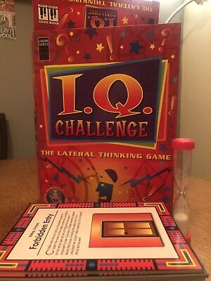 IQ Challenge The Lateral Thinking Family/Team Card Game by Lagoon Games Holiday