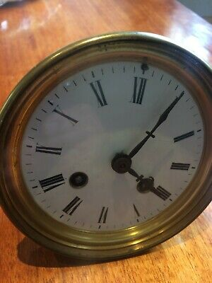 Antique French Clock two train movement with original dial.