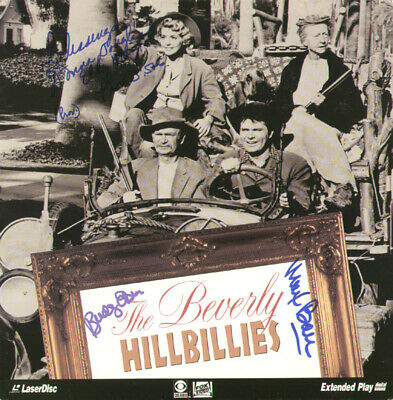 Beverly Hillbillies Tv Cast - Laser Media Cover Signed With Co-Signers