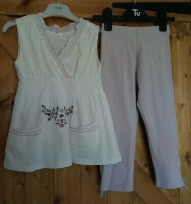 Next, Lilac, Leggings And Matching Top 4-5 Years