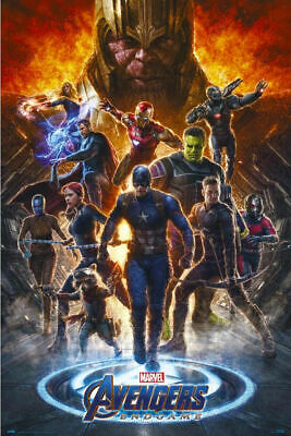 AVENGERS ENDGAME - FIRE POSTER - 24x36 - MOVIE 5312