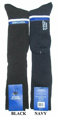 Mens Windsor Collection 65% Merino Wool Thermal Dress / Casual Knee Socks