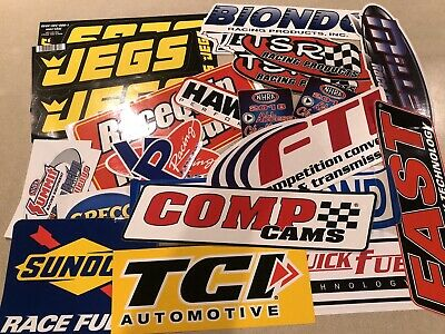 Lot of 30+ Racing Decals Stickers NHRA Contingency NASCAR ***Free Shipping