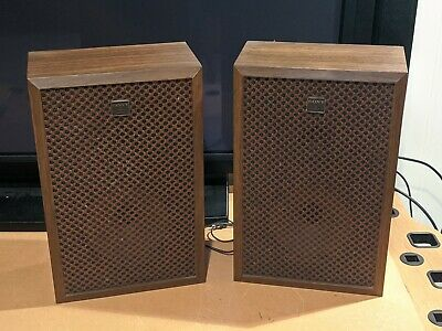 Vintage 1970s 1960s Sony Hp 161 Stereo Wood Cabinet