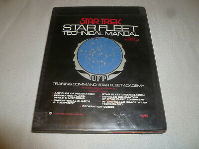 Signed Star Trek Fleet Technical Manual Book  Autographed Auto Walter L Wilson >