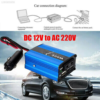 83A9 High Performance DC12V To AC220V 200W Peak Adapter Vehicle Car Inverter