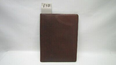 A4 Brown Real Leather room information menu (style 638) or A4 picture frame