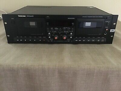Tascam Model 302 MK II Double Auto Reverse Cassette Deck Rack Mount (Cyber Sale)