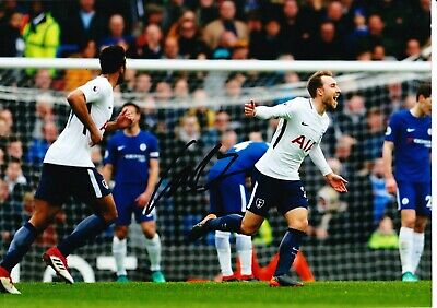 Christian Eriksen Signed 12X8 Photo SPURS Tottenham Hotspur AFTAL COA (1476)