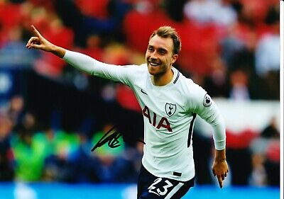 Christian Eriksen Signed 12X8 Photo SPURS Tottenham Hotspur AFTAL COA (D)