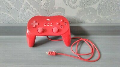 Official Nintendo Wii Wii U Wired Red Limited Edition Classic Pro Controller