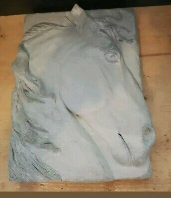 """Solid Stone 10""""×7""""×2"""" 3D Embossed Horse Plaque"""