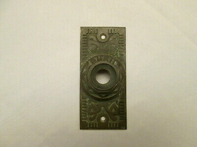 "Victorian Antique ""Push"" Ornate Mechanical Door Bell Plate for Push Button"