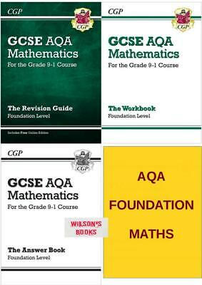 Gcse Aqa  Foundation Maths Revision & Workbook Complete 4 Book Set Exams In 2020