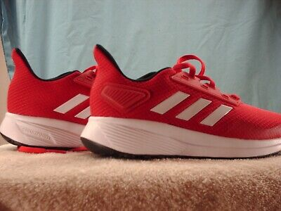 Adidas Little Kids Duramo 9 Running Shoes, Size 2.5, Color Scarlet/White/Black