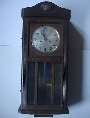 Antique Traditional Pendulum Wall Clock - Circa Early 1900's From Manchester