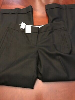 J. Crew women's favorite fit career pants size 6 solid black wool stretch NWT