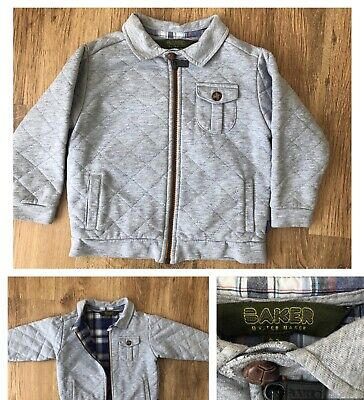 Ted Baker Kids Child Jacket Coat Quilted Grey Boys Size 2 -3 Years Smart
