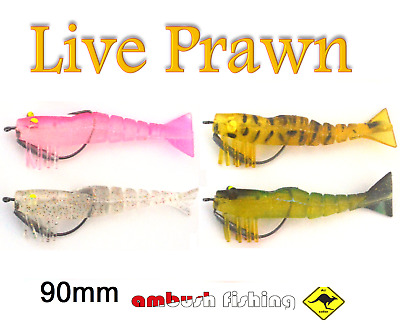 x 5 Vibe lure soft plastics 80 mm Mad Mullet paddle tail soft vibe lures rigged