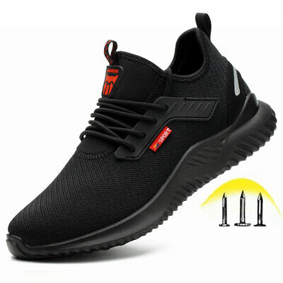 Men Safety Work Shoes with Steel Toe Cap Puncture-Proof Boots Sneakers