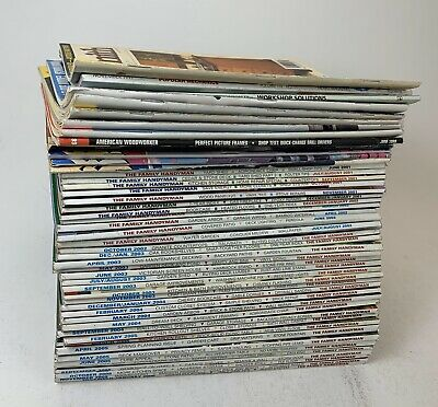 (49) Lot Woodworking Magazines DIY Project Guides Handyman, Woodsmith, American