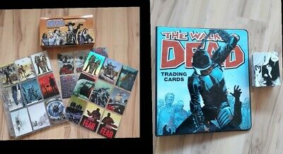 The Walking Dead Trading Cards Series 1&2 comic cards. Binder. Plus Extras