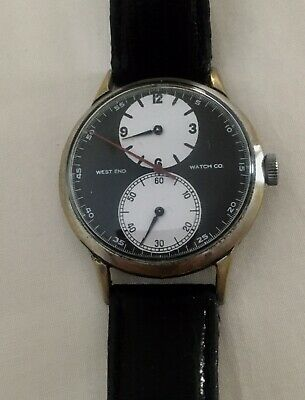 WEST END WATCH CO Dual dial separate hours and minutes very rare vintage watch