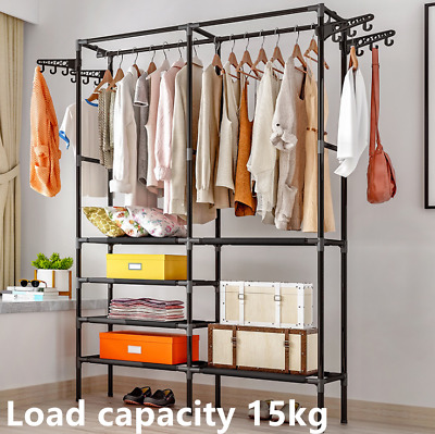 Extra Heavy Duty Garment Clothes Rail Metal Rack Home Shop Hanging Display Stand